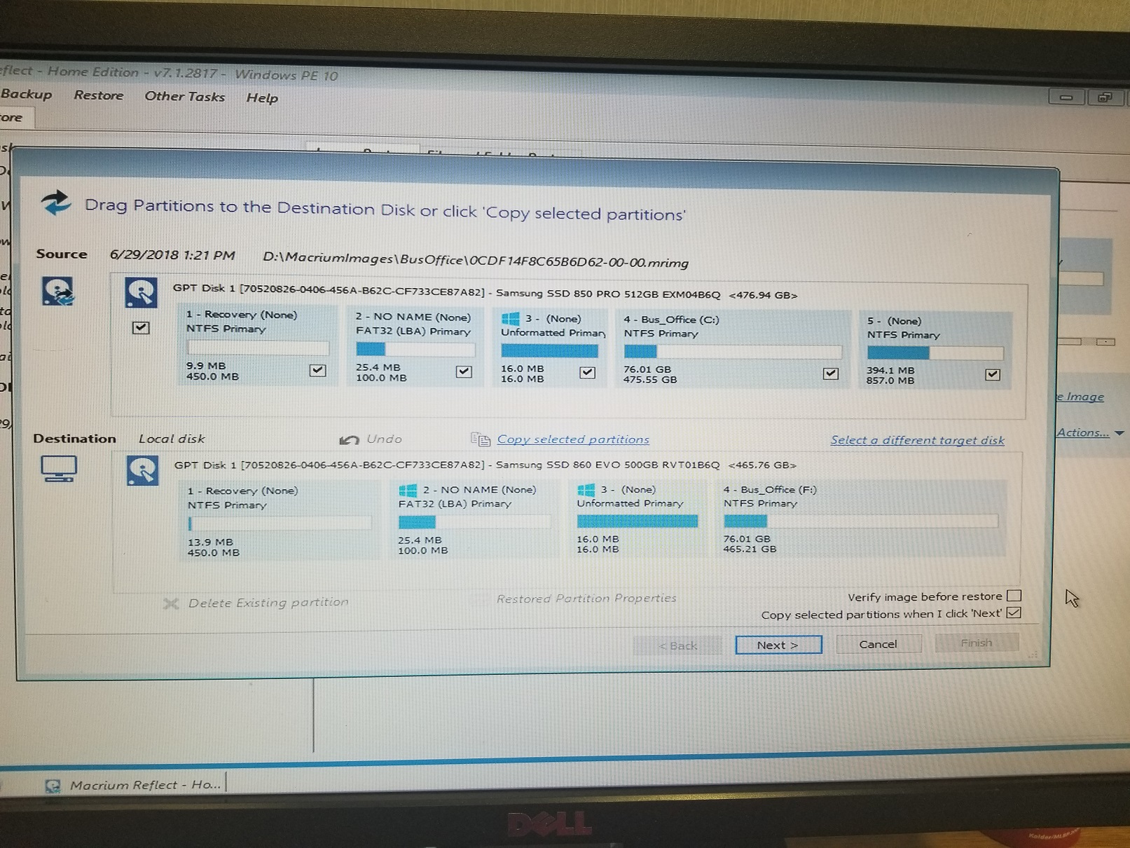 using macrium reflect to clone to smaller ssd