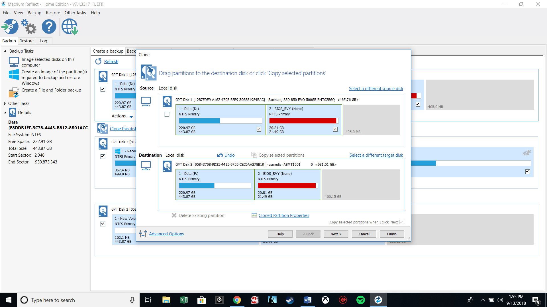 unallocated space on ssd