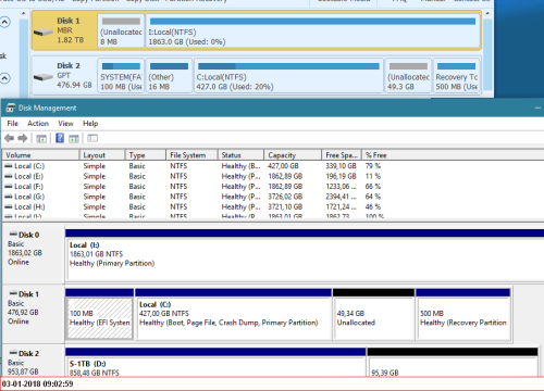 Windows Recovery partitions - removing them - disk imaging