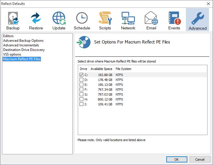 macrium reflect how to delete boot options