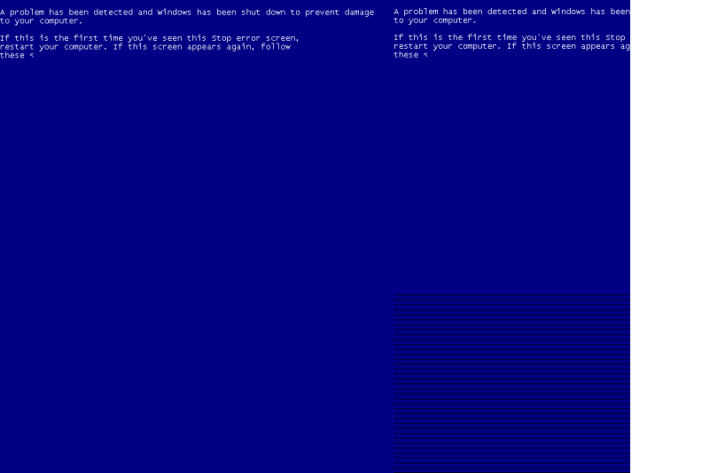Still blue screen when trying to boot most virtual machines